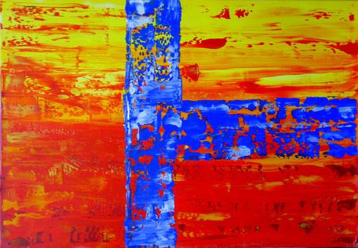 o.T., Acryl auf Lwd., 50x70, 2012  Nr.:12101