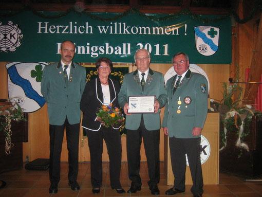 v.l.n.r. Klaus Werner, Gudrun Siebert, Rolf Siebert, Jürgen Döring