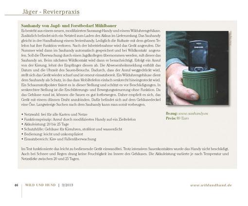 Quelle: WILD und HUND - Fachzeitschrift Ausgabe 03/2013