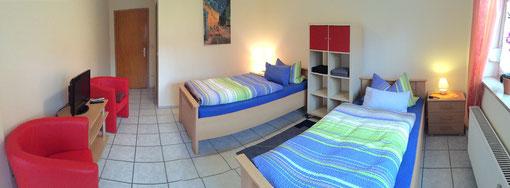 Zweibettzimmer 2 in unserer Ferienwohnung Erlangen
