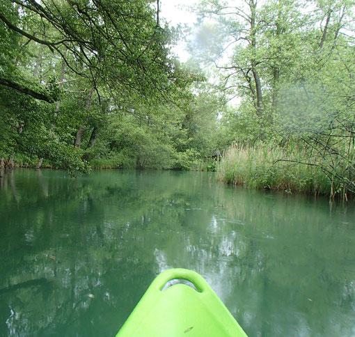 Kayak, Fluss Aabach bei Schloss Hallwil