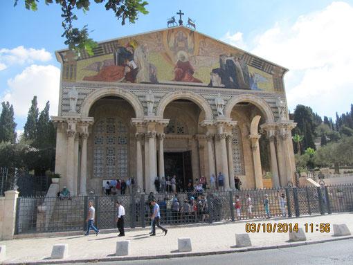 Вид на церковь Агонии Христа