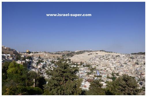 Иерусалим, вид на Масличную и Храмовую горы