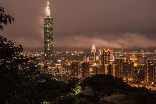 Taipei101 seen from Elephant hill