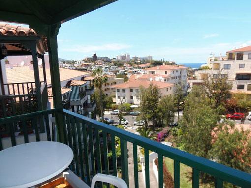 Meerblick über die Dächer von Lapz direkt vom Balkon der Wohnung.