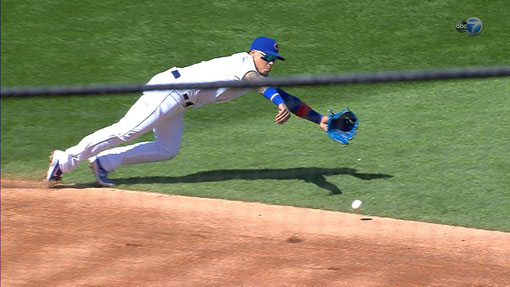 Nella foto Javier Baez (Photo MLB.com)