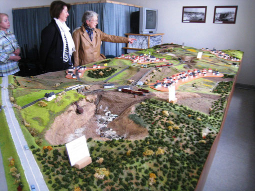Landschaftsmodell mit Tagebau im Heimatmuseum Callenberg-Reichenbach