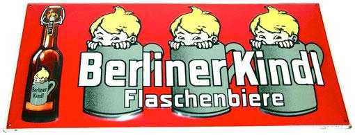 großes Berliner Kindl Blechschild
