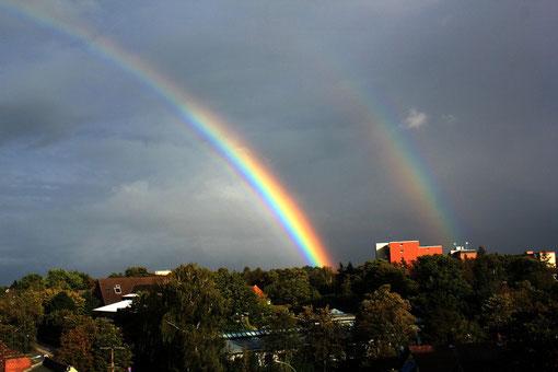 Regenbogen über Wedel am 14.09.2011