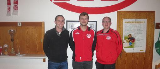 v.l.n.r.: Nicky Schwartze, Johannes Kraienhemke, Martin Stockhofe