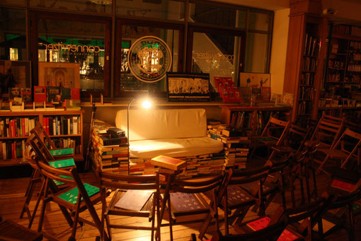 Unser Lesesofa in der 1. Etage / Foto: Peter Hinke