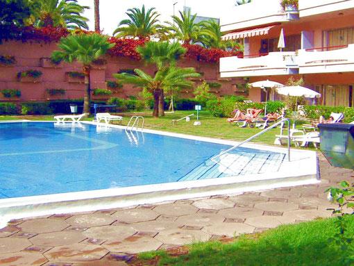 Privates Apartment im Hotel Molino Blanco in Puerto de la Cruz in La Paz auf Tenerife, zentral gelegen mit Internet und Pool zum überwintern