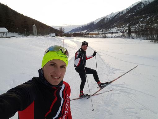 Die resten Langlaufkilometer in der Saison 15/16 zusammen mit meinem Bruder Simon im Obergoms