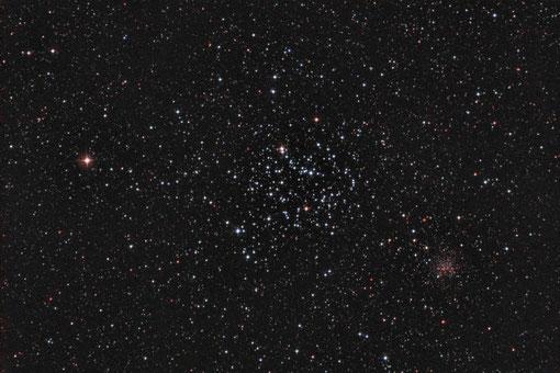 """M35 und NGC 2158 mit 6""""f/5 Newton belichtet"""