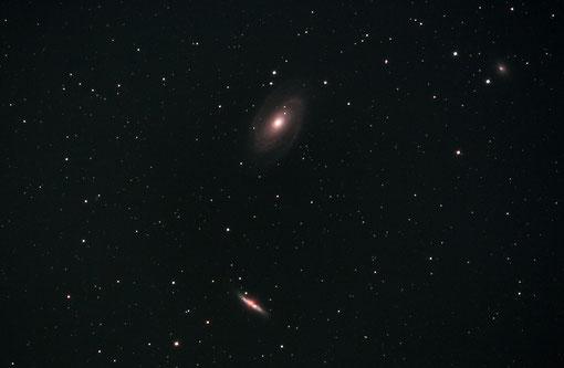Die Galaxien M81, M82 mit Lichtenknecker FFC 3.5/500 aufgenommen