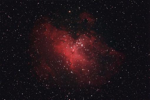 M16 (NGC 6611)  mit einem 20 cm f/5 Newton aufgenommen.