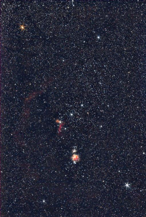 Orion mit 55 mm Takumar belichtet