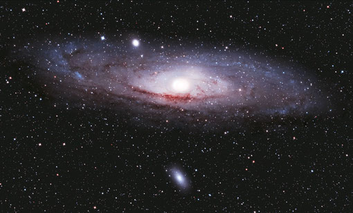 M31 mit einer Lichrenknecker FFC 3.5/500 bei 400 ASA aufgenommen