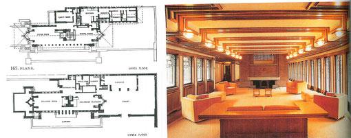 Wright Casa Robie Interior y planos