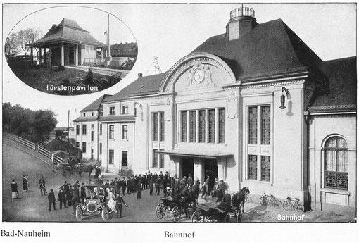 Bahnhof Bad Nauheim und Fürstenpavillon: Gästeführer 1927, Sammlung Beatrix van Ooyen