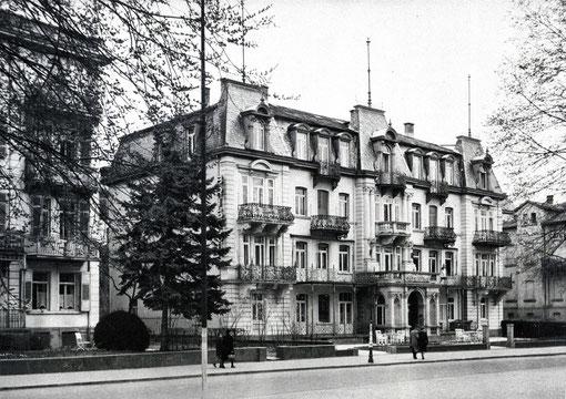 Ehemaliges Hotel Bristol und heutiges Wohnhaus, Ludwigstraße 19, Foto: Sammlung Jürgen Wegener