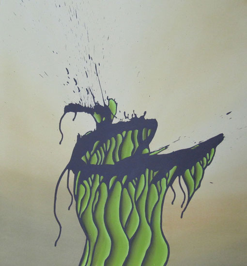 Mischtechnik, Ölkreide, Acryl, moderne Kunst, modern art, art moderne