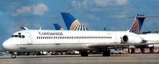Einst ein recht vertrauter Anblick/Courtesy: Continental Airlines