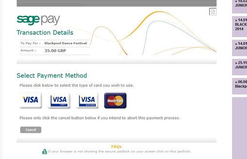 クレジットカード選択