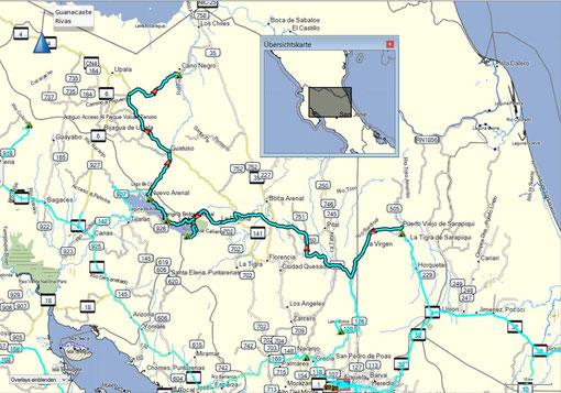 Der Weg von LA Selva über den Arenalsee nach Canon Negra