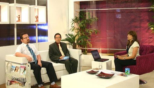 En el programa de Pelusa Rubin, Canal 2, hablando sobre Medicina Natural y Electromedicina