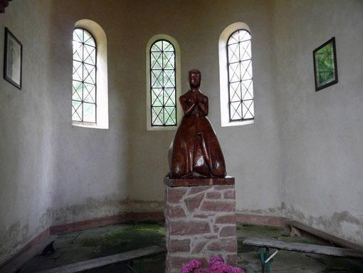 Mont Saint-Michel, Saverne, chapelle, statue