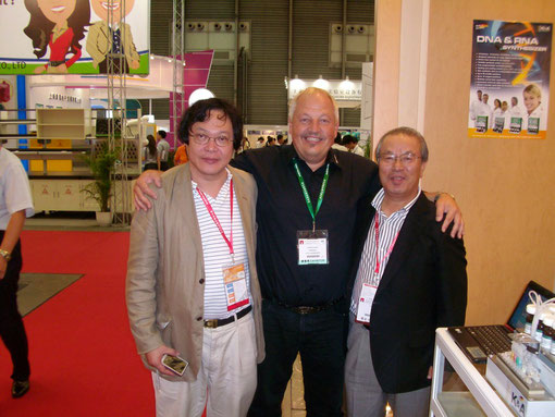 Our Partners in Japan: Prof. Dr. N. Hayashi, Geneworld (lt.), .............................                   Pres. of NHT  Mr. Masaki (rt)