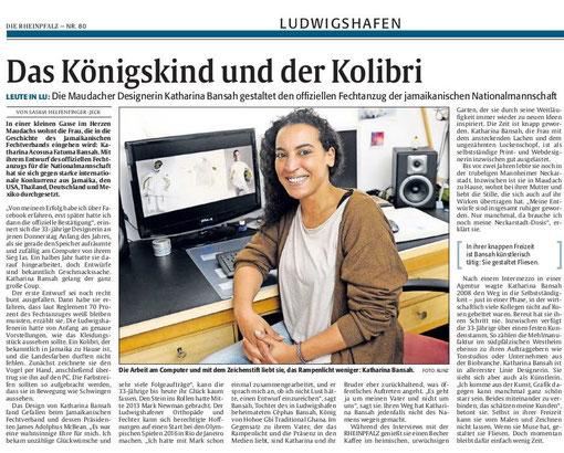 Rheinpfalz, Ludwigshafener Rundschau, 04.04.2014