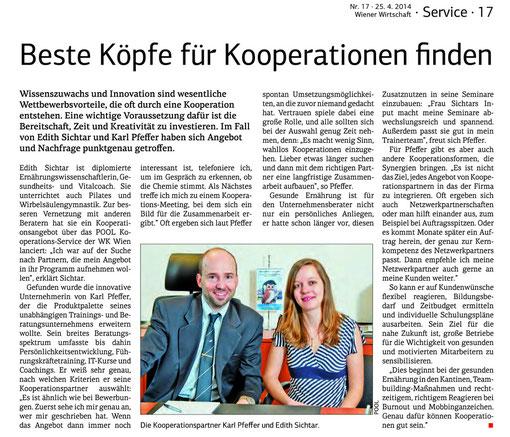 Beste Köpfe für Kooperation finden WKO Wiener Wirtschaft