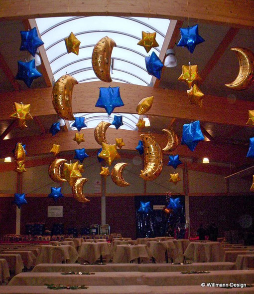 Sternenhimmel Festsaal Weihnachtsfeier
