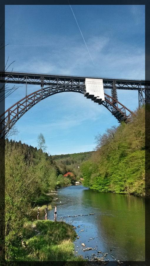 Mit 107 Metern Höhe die höchste Eisenbahnbrücke Deutschlands