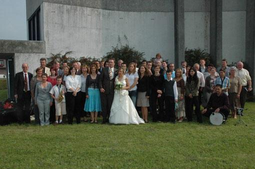 La Fanfare au mariage de Delphine et Jéröme,septembre 2007