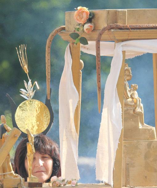 Isis,  Römerfest Hechingen-Stein, Römisches Freilichtmuseum Hechingen-Stein, 16.08.2014., Canon EOS 550d. Foto: Eleonore Schindler von Wallenstern.