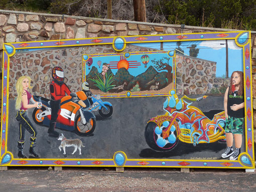 Wall mural, San Antonito, New Mexico