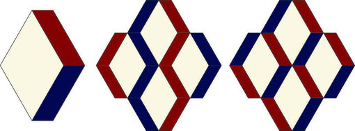 English Paper Piecing Raute Parallelogramm Diamond