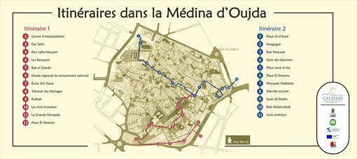 Mesa interpretativa. Itinerarios por la Medina de Oujda. (2014)