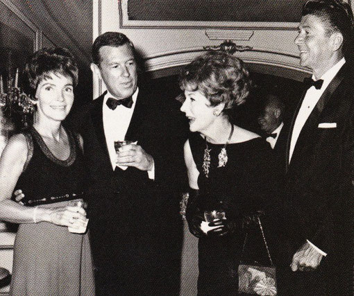 William Frye and Irene Dunne with Governor and Nancy Reagan at the Beverly Wilshire Hotel, in which Dunne was an investor.