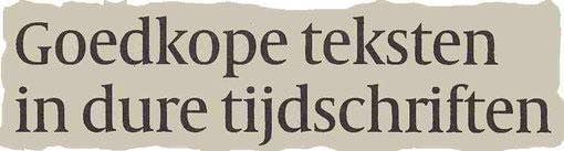 M.Februari, Volkskrant over corporate magazines