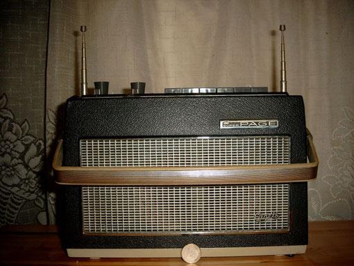 Kofferradio mit externen Netzgerät