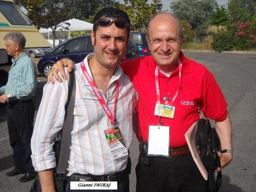 Fiera di Monterotondo 2010 con Roberto Iz0IIL