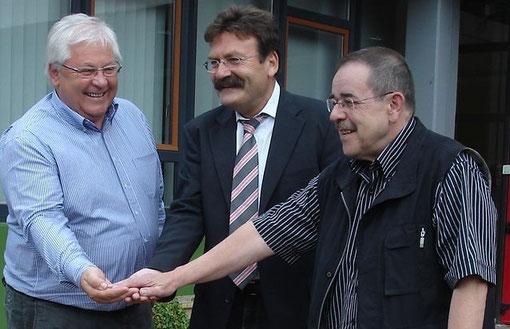 Landrat Eichenlaub und Rektor Jentzsch zu Besuch