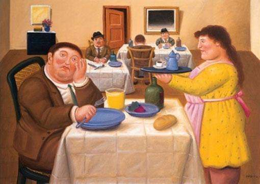 FERNANDO BOTERO - Sala da pranzo (2002)