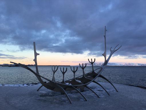 The sun voyager scultura imbarcazione vichinga Reykjavik Islanda