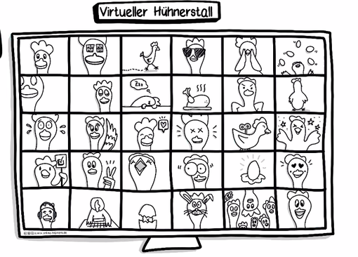 "Die Methode ""Virtueller Hühnerstall"" aus dem Online-Trainer-Playbook"