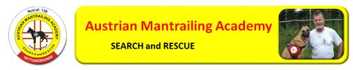 Rettungshunde mit Mantrailing Ausbildung